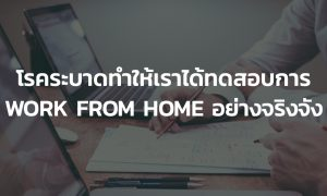 work from home concept in thailand